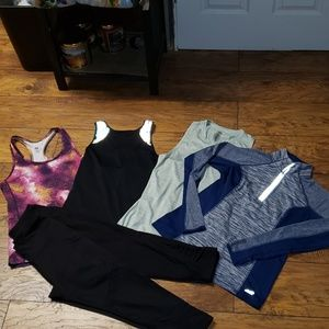 6-Piece Fitness Lot ~~ Size Small
